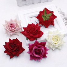 30pcs/Bag Roses Flower Heads silk flowers artificial DIY fake Wedding car Decor Multi-use flores artificiales