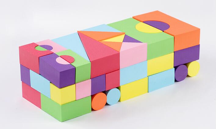 Baby toys building blocks eva foam non toxic non recycled for Styrofoam blocks for building homes