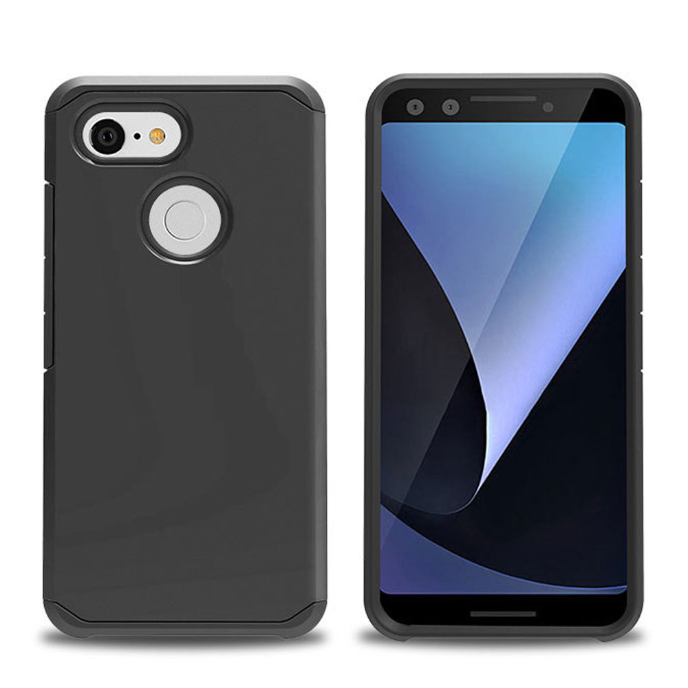 For Google Pixel 3 / Pixel 3 XL XL3 Case 2In1 Hybrid Rugged Case Slim Fit Soft TPU &Amp; Hard Back Anti Drop Impact Protective Cover