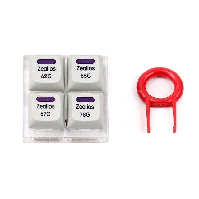 Interrupteur Zealios v2 interrupteur violet Zealio (Tactile) testeur de commutateur 62g 65g 67g 78g