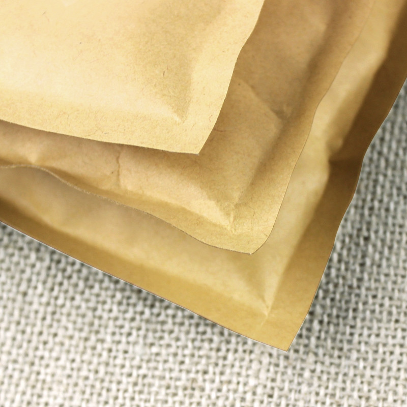 100pcs/lot-8*11cm Small Size Kraft Paper Bag with Aluminum Foil Coated Inner Coffee Tea powder Zip Lock Party Food Packaging