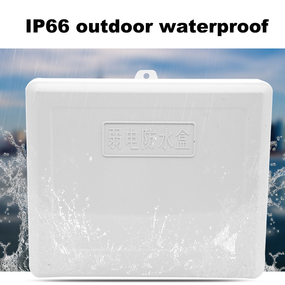 YUNSYE White ABS Plastic Waterproof Dust-proof Junction Box DIY Electrical Connection Outdoor Monitor Distribution box XXL 1 inlet 2 outlet high quality ip66 abs waterproof junction box diy outdoor electrical splitter box wire connection with uk2 5b