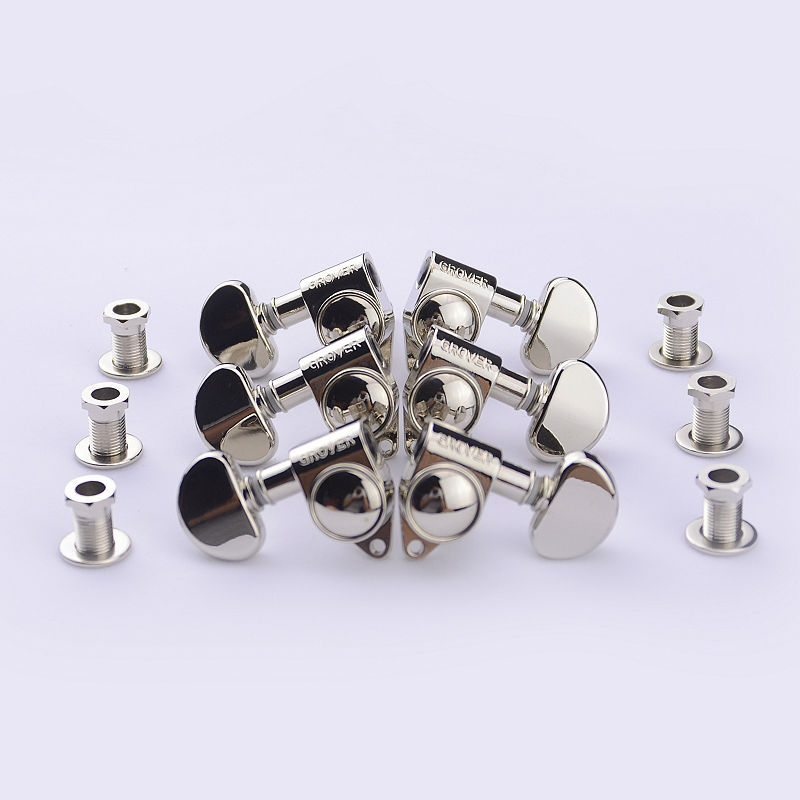 все цены на 1Set 3R-3L Genuine Grover Guitar Machine Heads Tuners 1:18 Nickel ( without original package ) онлайн