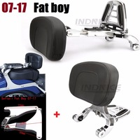 Adjustable Driver Passenger Backrest For Harley Softail Fat boy 2007 2017 softail adjustable backrest