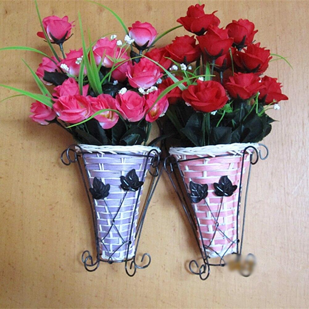Vintage Weave Vine Wall Hanging Flower Basket Flower ... on Decorative Wall Sconces For Flowers Hanging Baskets Delivery id=47734