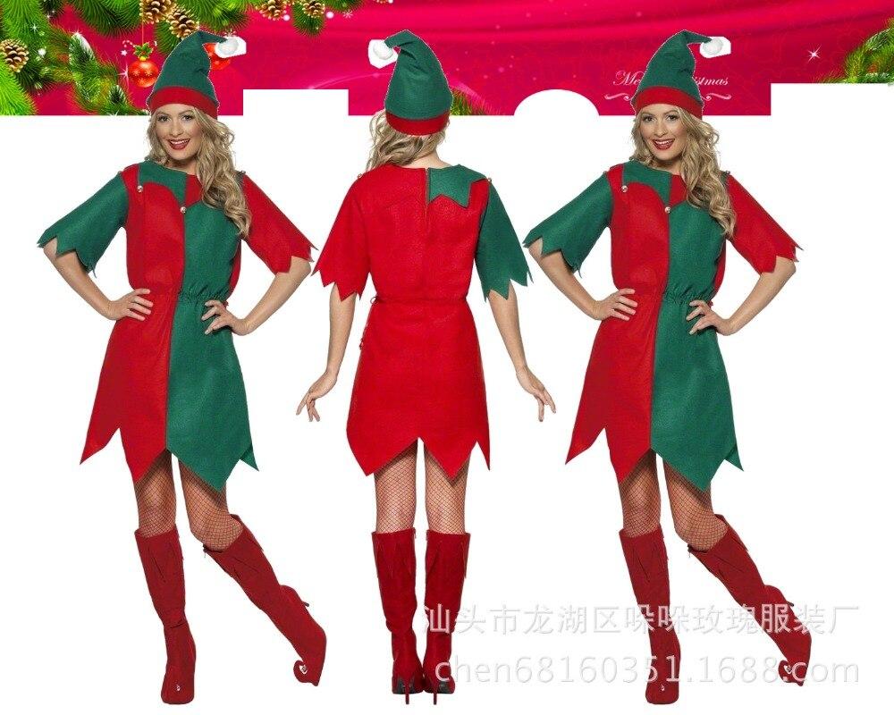 2017 Christmas Joker Dress Green Christmas Tree Christmas