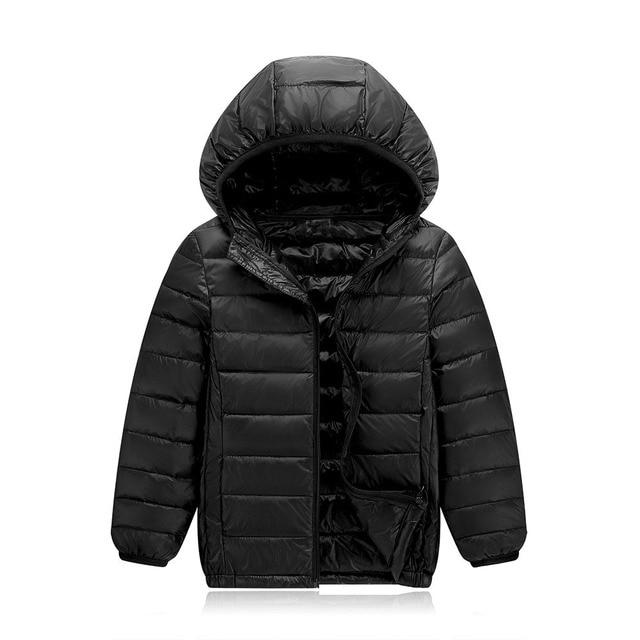 2c3aa9290f044 light children jackets big kid white duck down coat winter jackets girls  hooded candy red black orange baby teenage boys jacket