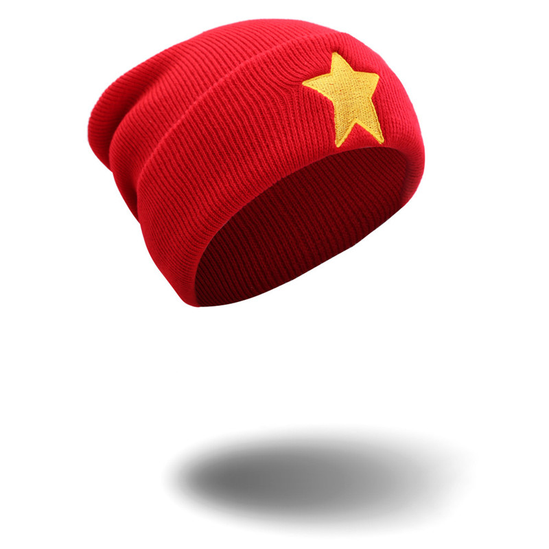 364c496d2fe New Winter Hat Man Hat Skullies Beanies Girls Women Winter Warm Hat Red  Knit Beanie Shooting Star Anmation Nice Red Acrylic Hat-in Skullies    Beanies from ...