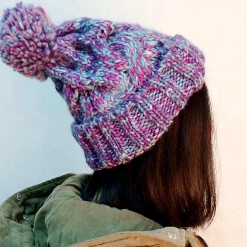 New Womens&Mens Wool Winter Warm Cap Crochet Warm Knit Knitted Beanie Ski Hat hot winter beanie knit crochet ski hat plicate baggy oversized slouch unisex cap