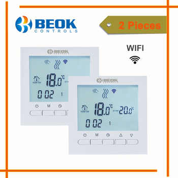2 Pieces Wifi Thermostat for Gas Boiler Smart Phone APP Control Temperature Regulator White Color Home Warm Thermostat - DISCOUNT ITEM  22% OFF All Category