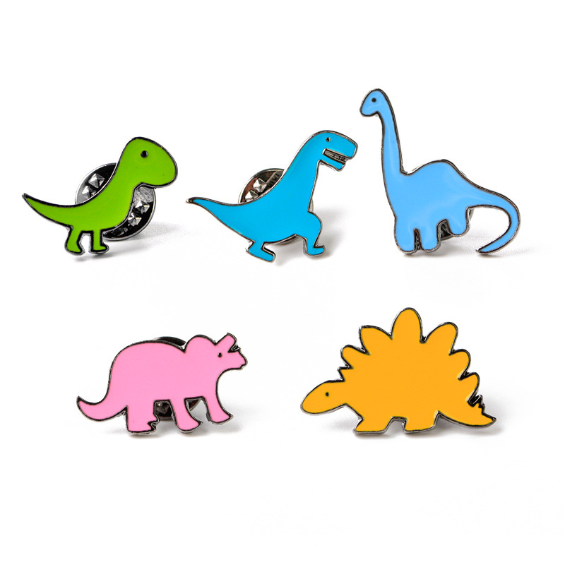 New Cartoon Colorful Dinosaur Brooch Cute Pins Diy Button Pin Denim Jacket Pin Badge Gift Jewelry Jewelry & Accessories Jewelry Sets & More
