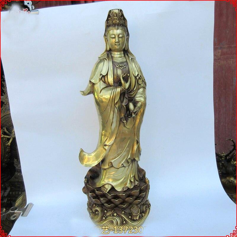 escultura de bronze art estátua de Buda GUANYIN PUSA 60 cm grande