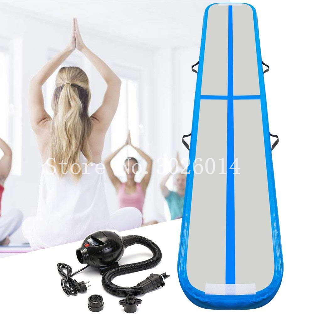 Air Balance Beam Inflatable Practice Training Mat 3m Inflatable Gymnastics AirTrack Tumbling Mat Air Track Floor Mats with Pump