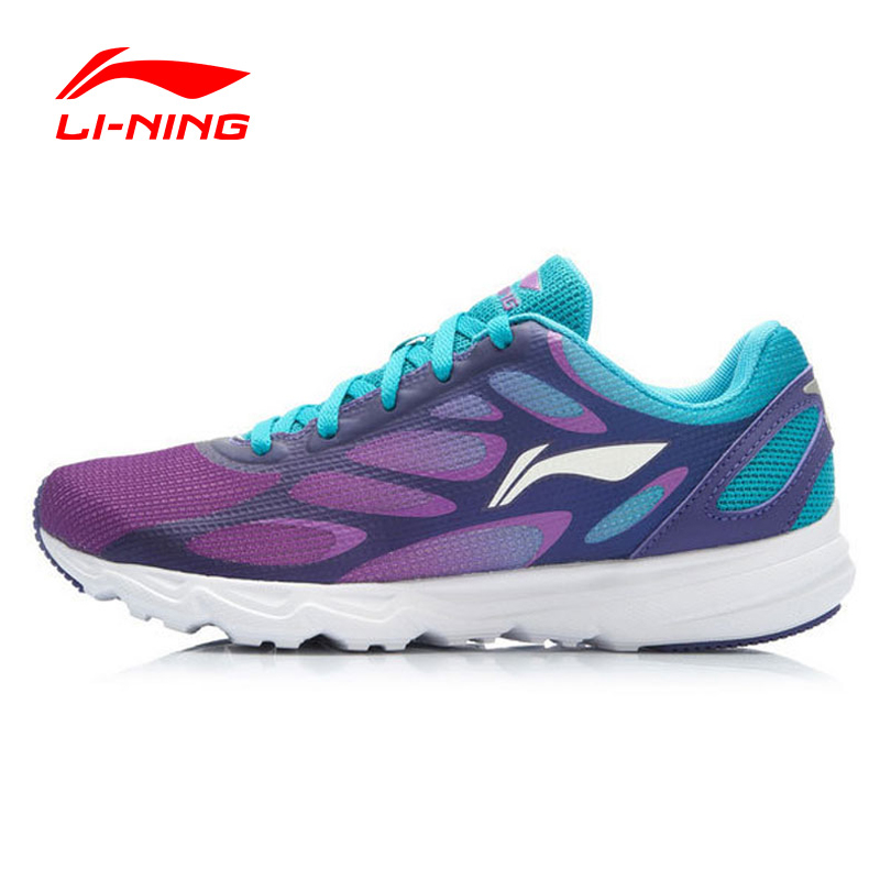 Li-Ning Women Running Shoes Air Mesh Breathable Cushioning DMX Techonology Lace Up Light Sneakers ARBK034 XWR044 original li ning men professional basketball shoes