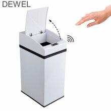 7Л мини сенсорное мусорное ведро нержавеющей стали автоматического IR сенсора c внутреннем ведром для кухни дома офиса корзина для мусора для школы отеля