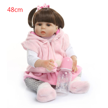 19inch 48cm Full silicone Vinyl Princess Toddler Babies Dolls real touch Girls Birthday Gift Present Child Play House Toy doll
