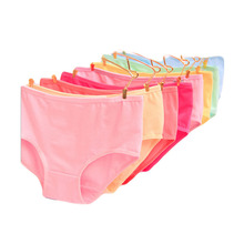 bd31c5964b Seamless Panties Lingerie Middle Waist Cotton Candy Colored Minimalist Big  Yards Women s Underwear calzones mujer de marca CD14