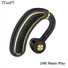 TCunPT Беспроводная bluetooth-гарнитура деловые наушники спортивные наушники 300 мАч супер длительное время ожидания 24 H воспроизведения музыки для смартфонов