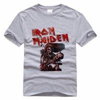 Personality Men T Shirt Iron Maiden Famous Heave Metal Rock Band T Shirt For Men 3D