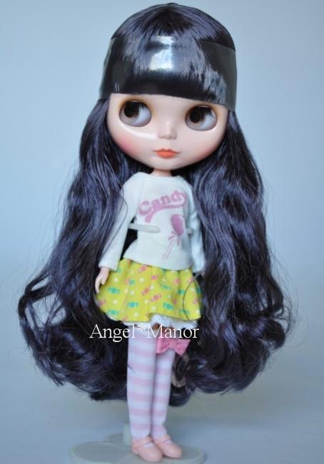 Free shipping Nude Blyth Doll, black3 hair, big eye doll,For Girl's Gift,PJb003 free shipping nude blyth doll black5 hair big eye doll for girl s gift pjb005
