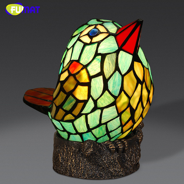 Fumat stained glass table lamp cute birds glass lamp bedside decor fumat stained glass table lamp cute birds glass lamp bedside decor table lamp living room kids mozeypictures