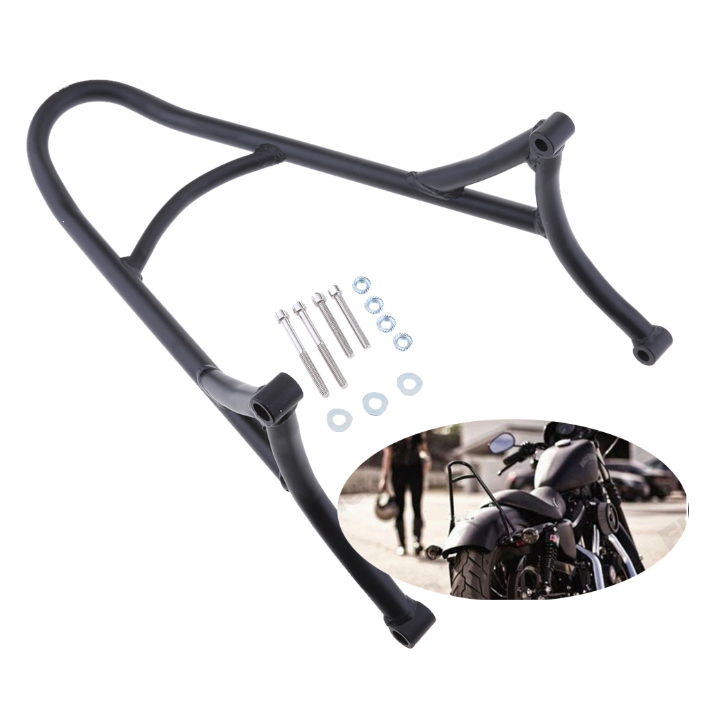 1 Piece Black Classic Motorcycle Bike Short Sissy Bar Backrest For Harley Sportster 1200 883 XL 04 16 Motorcycle Parts