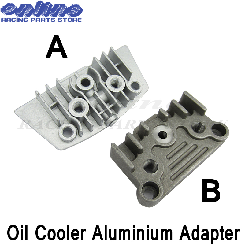 TC-Motor Engine Cover Oil Cooler Adapter Plate For 125cc 140cc Pit Dirt Bike