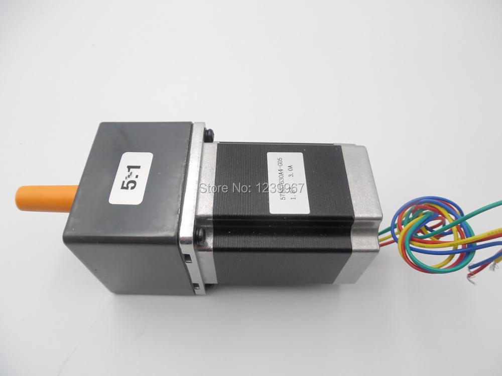 57BYG Gear Stepper Motor Ratio 5:1 Gearbox L76mm 3.0A 9N.m 2Phase Nema23 Stepper Motor for CNC Router 57byg gear stepper motor ratio 5 1 gearbox l76mm 3 0a 9n m 2phase nema23 stepper motor for cnc router