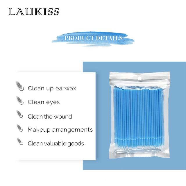 100pcs/lot Micro Brushes Make Up Eyelash Extension Eye Lash Glue Brushes Lint Free Disposable Applicators Sticks Makeup Tools 2