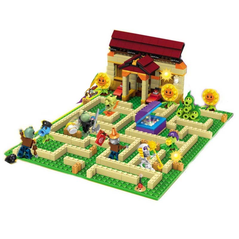 New Plants Vs Zombies Struck Game Toy Action Toy &figures Building Blocks Bricks Brinquedos Toys Minecraft Gifts plants vs zombies garden maze struck game legoings building bricks blocks set anime figures my world toys for children gifts