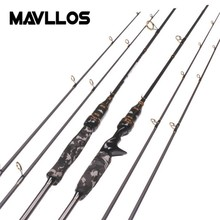 Mavllos 1.8M M&MH 2 Tips Carbon Spinning Rod Lure Weight 7-21g/8-30g Fast Action Saltwater Lure Fishing Casting Rod
