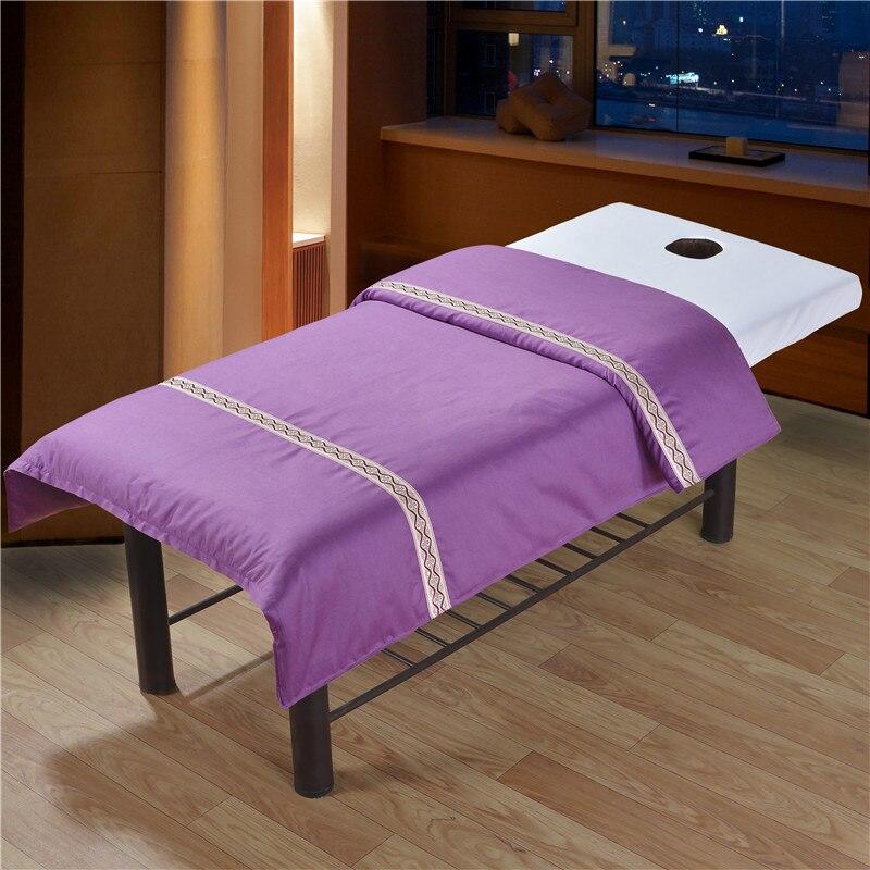 1 Pc Katoen Schoonheidssalon Dekbedovertrek Massage Salon Spa Beauty Begassing Beddengoed Bed Sprei 120*180 Cm # Sw Elegant En Stevig Pakket