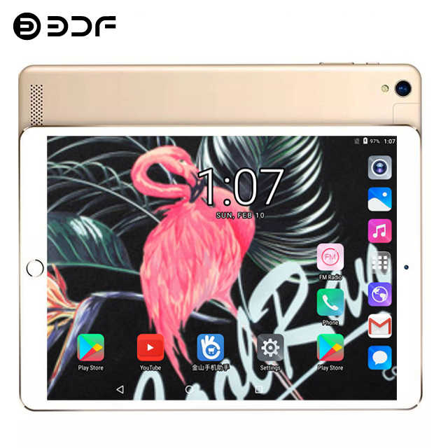 Android 7.0 Eervolle 10.1 Inch 2.5D Glas Screen Telefoon Tablet PC 8 Core RAM 4GB ROM 64GB 1920*1200 IPS Dual Sim-kaart Tabletten Pc