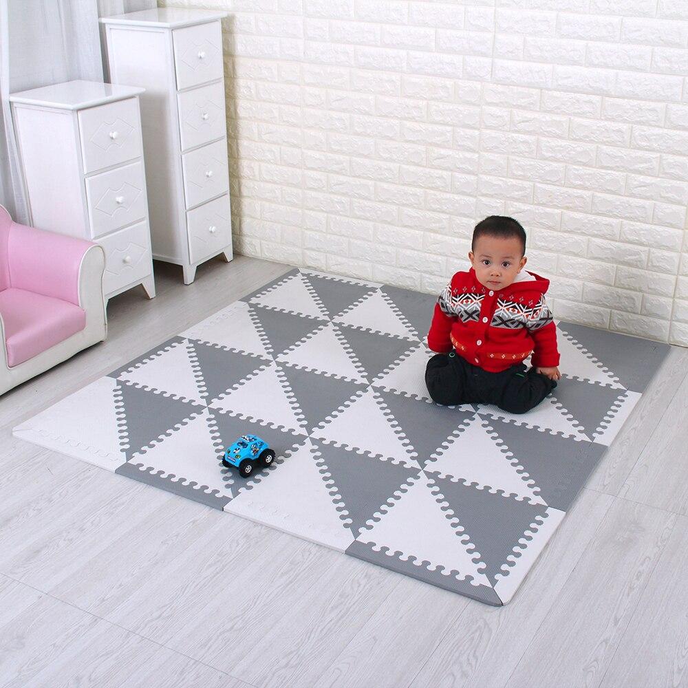Esteras de rompecabezas de espuma Eva para niños con tablas entrelazadas azulejos de espuma ambiental Tatami suave alfombras para niños alfombra de juego de bebé
