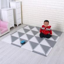 Пены Eva головоломки коврики детские коврики с Панели переплетенных Экологические пены Плитки мягкий татами дети ковры ребенка играть мат