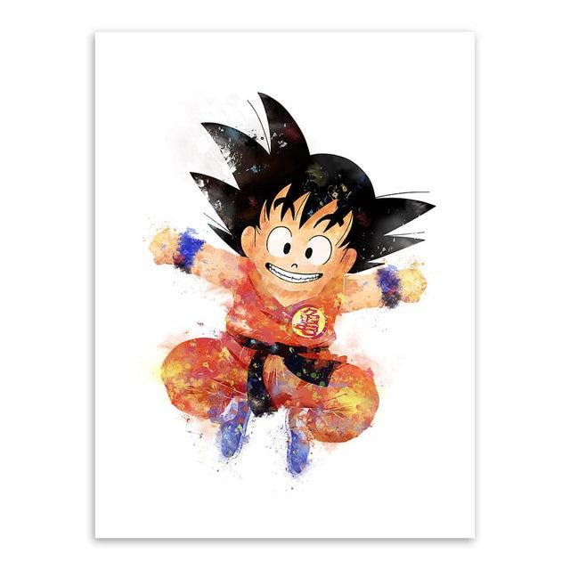 Tienda Online 2017 nueva moderna acuarela japonés anime Dragon Ball ...