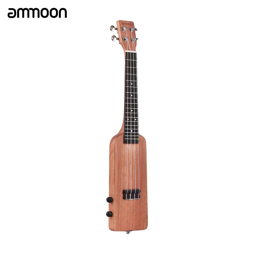 ammoon Creative Bottle Shape 23 Solid Wood Okoume Electric Ukulele Ukelele Uke Kit with Tuner Bag Audio Cable Strings 5pcs Pick