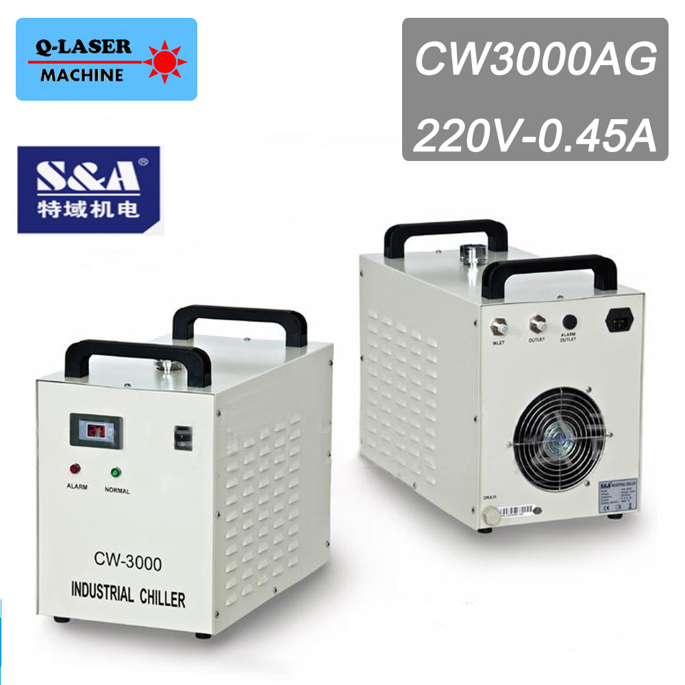 CW3000AG Industry Laser Water Chiller for Cooling 60W 80W Co2 Laser Tube cw5000 industry air water chiller for co2 laser engraving cutting machine cooling 80w 100w laser tube