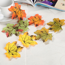 100pcs Assorted Rich Fall Colored Silk Leaves Artificial Maple For Romantic Atmosphere