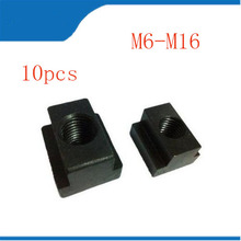 купить 10pcs M6-M16 T-Slot Nut Clamping Table Slot Milling T Sliding Nut Block Slot дешево