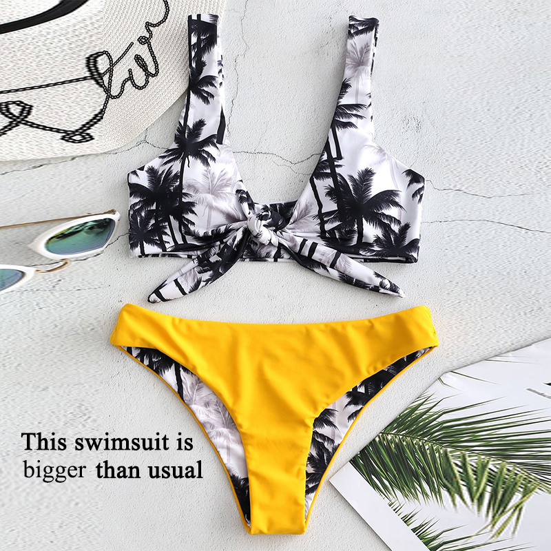 Bikinx Bandeau swimwear women push up swimsuit female Cactus Print micro bikini 2019 sexy bathing suit beach bathers Biquini new