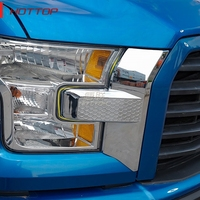 Exterior Moulding Front Grill Face Light Front fog lamp Eyelid Trim Stickers Fit For Ford F150