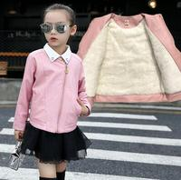 Girls Leather Jacket Girls Princess Outerwear Kids PU Leather Jackets Girls Autumn Spring Cool Coat 4T