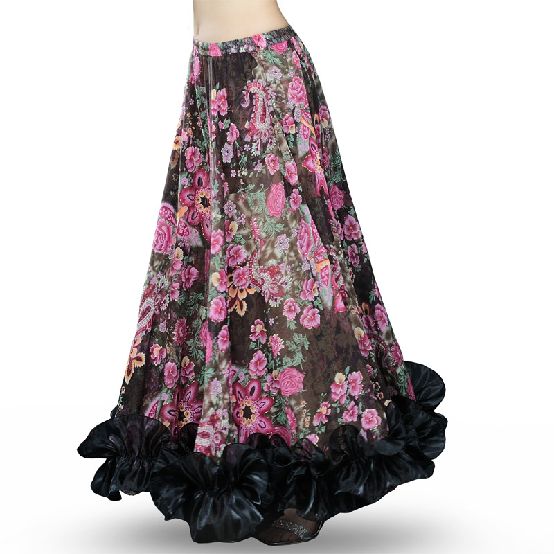 Image 2 - Hot Sale Bellydancing Bohemia Chiffon Large Skirts Gypsy Tribal Belly Dance Skirt  Gypsie  Costume Dress Flamingo Clothing 6041-in Belly Dancing from Novelty & Special Use