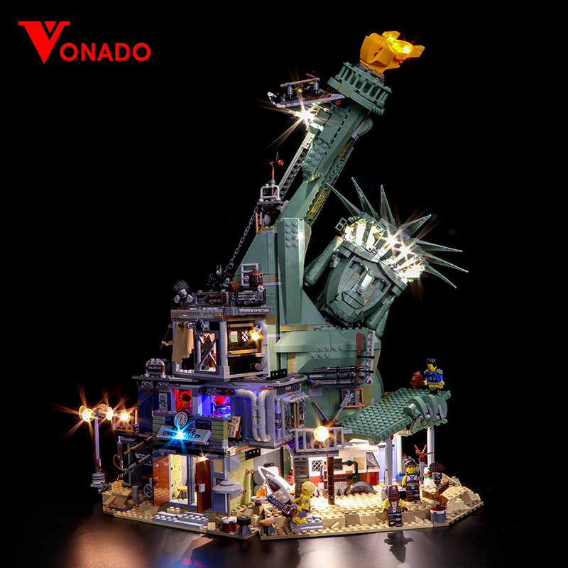Led light for 45014 Movie Serie The 70840 APOCALYPSEBURG Set Building Blocks Bricks Kid Toys Birthday