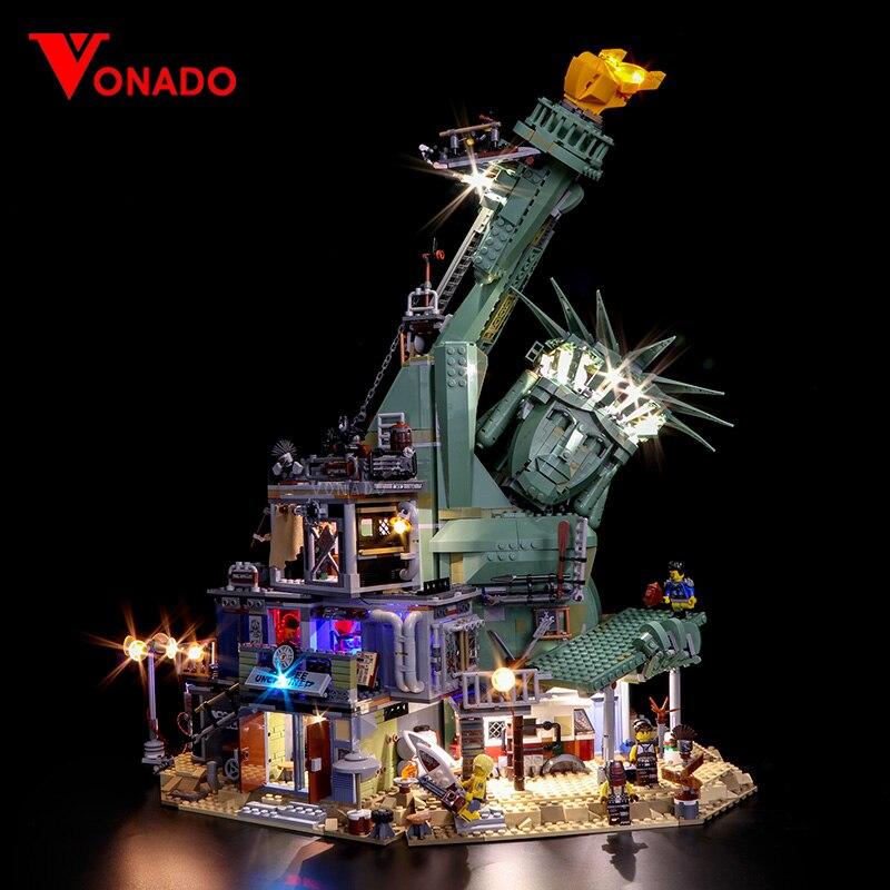 Luz Led para la película de 45014 Serie 70840 APOCALYPSEBURG conjunto de bloques de construcción ladrillos chico juguetes de regalo de Navidad de cumpleaños (la luz)