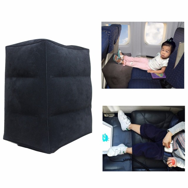 Kids Flight Sleeping Footrest Pillow Resting Pillow On Airplane Car Bus Pillow Inflatable Travel Foot rest Pillow Foot Pad
