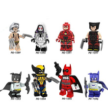 Legoings marvel Superhero Series Assembled Man Wolverine Wenger Spider-Man Dead Batman Marvel's The Evengers цена и фото
