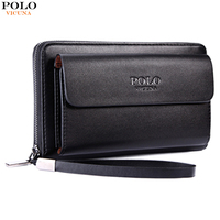 VICUNA POLO Large Capacity Mens Clutch Wallet Men S Casual Business Handbag High Quality PU Leather