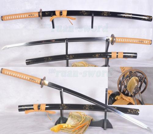 41''JAPONSKÝ SAMURAI SWORD KATANA 1060 VYSOKÝ KARBONSTEEL PLNÝ NÁDRŽ BLADE SHARP
